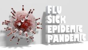 Alfabeto del virus Fotografia Stock