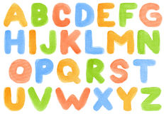 Alfabeto dell'acquerello illustrazione vettoriale