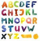 Alfabeto dell'acquerello Immagine Stock Libera da Diritti