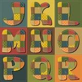 Alfabeto dell'album per ritagli della rappezzatura Immagini Stock Libere da Diritti