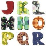 Alfabeto dell'album per ritagli della rappezzatura Fotografie Stock Libere da Diritti