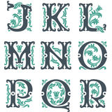 Alfabeto dell'annata. Parte 2 Immagine Stock