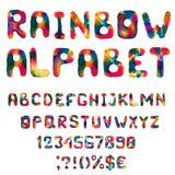 Alfabeto dell'arcobaleno dell'acquerello Fotografie Stock