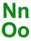 Alfabeto dell'erba verde Immagini Stock Libere da Diritti