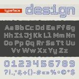 Alfabeto dell'illustrazione della mano Fotografie Stock
