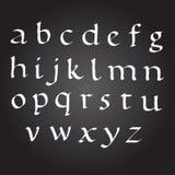 Alfabeto dell'inchiostro di vettore di Bace lettere dipinte ABC di calligrafia Alfabeto verniciato Fotografia Stock Libera da Diritti