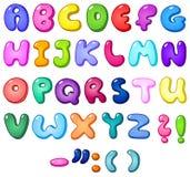 alfabeto della bolla 3d Fotografia Stock Libera da Diritti