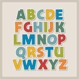 Alfabeto della carta colorata illustrazione di stock