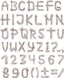 Alfabeto della corda Fotografia Stock