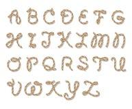 Alfabeto della corda Fotografie Stock