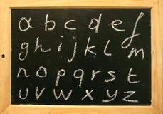 Alfabeto della lavagna Immagini Stock Libere da Diritti