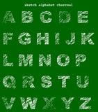 Alfabeto della lavagna Fotografia Stock