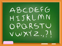 Alfabeto della lavagna Immagini Stock