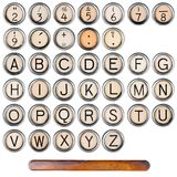 Alfabeto della macchina da scrivere Fotografia Stock Libera da Diritti