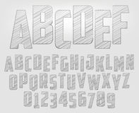 Alfabeto della matita Immagini Stock Libere da Diritti