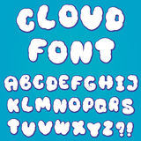 Alfabeto della nuvola per progettazione Immagine Stock