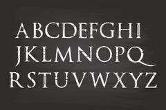 Alfabeto della scrittura a mano Immagine Stock Libera da Diritti