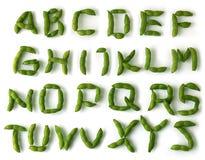 Alfabeto della soia Immagini Stock Libere da Diritti