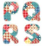 Alfabeto della trapunta. Immagine Stock