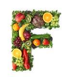 Alfabeto della verdura e della frutta Fotografia Stock