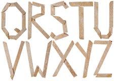 Alfabeto delle lettere delle pietre dell'ardesia Immagine Stock Libera da Diritti