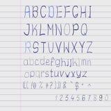 Alfabeto dello scarabocchio di vettore Immagine Stock