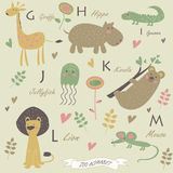Alfabeto dello zoo Fotografia Stock Libera da Diritti