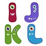 Alfabeto dentudo divertido del monstruo Fotos de archivo