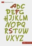 Alfabeto desenhado à mão do vetor Fotografia de Stock