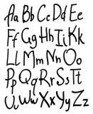 Alfabeto desenhado mão Foto de Stock