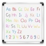 Alfabeto desenhado mão Fotografia de Stock Royalty Free