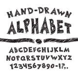 Alfabeto desenhado mão Imagens de Stock