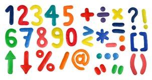 Alfabeto - dígitos e símbolos Fotos de Stock