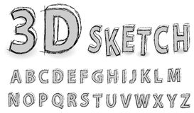 Alfabeto di abbozzo Immagine Stock Libera da Diritti