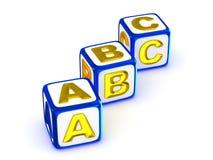 Alfabeto di ABC Fotografie Stock