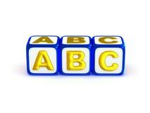 Alfabeto di ABC Immagini Stock