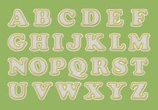 Alfabeto di baseball con i punti Immagini Stock Libere da Diritti