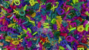 Alfabeto di caduta delle lettere illustrazione vettoriale