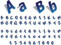 Alfabeto di carta Immagine Stock