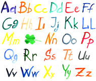 Alfabeto di colore di acqua Immagine Stock Libera da Diritti