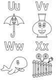 Alfabeto di coloritura per i bambini [6] Fotografia Stock