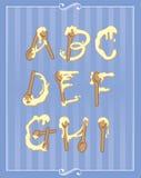 Alfabeto di cottura Fotografie Stock