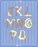 Alfabeto di cottura Fotografia Stock