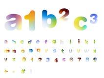 Alfabeto di disegno della fonte tipografica Immagine Stock Libera da Diritti