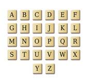 Alfabeto di disegno delle parole incrociate Fotografia Stock Libera da Diritti