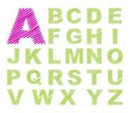 Alfabeto di disegno di abbozzo Fotografia Stock