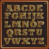 Alfabeto di disegno di Paisley Fotografia Stock