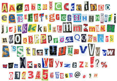 Alfabeto di Grunge Immagine Stock Libera da Diritti