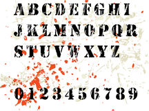 Alfabeto di Grunge Immagine Stock