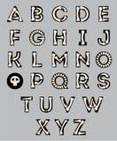 Alfabeto di Halloween Immagini Stock